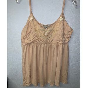 Blush American Rag Embellished Tank Top